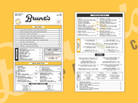 Bruno's Pasta Co. - Menus
