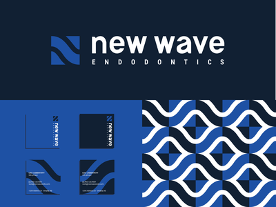 New Wave sans serif wave letter n monogram brandidentity branding logotype logo