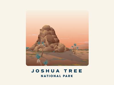 Joshua Tree National Park badge vintage texture joshua tree vector art national park illustration