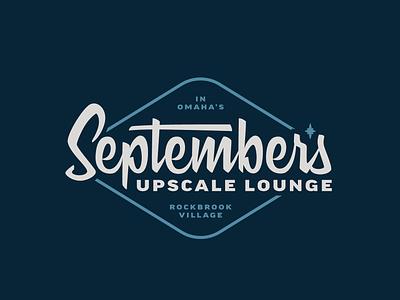 September's vintage lettering bar logo bar branding 60s badge logotype lettering vintage
