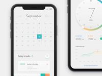 Calendar & bedtime - concept