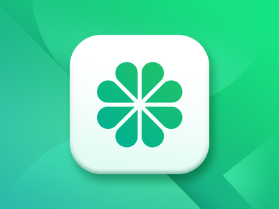 Conneccity - Icon App meetings product startup logo launcher icon gradient green location flower network social icon logo app