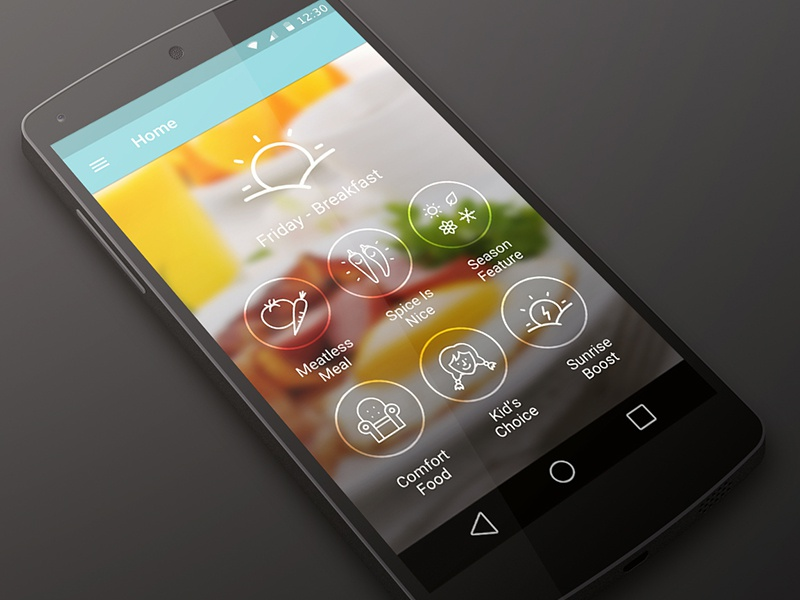 Cookspiration android l mock up dribbble