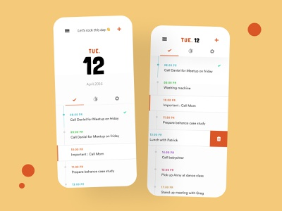 Calendar App Redesign interface designer app freelance paris design meneur thadde clean ux ui