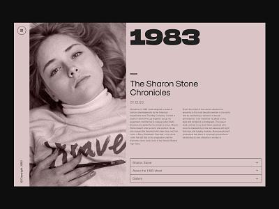 The Sharon Stone Chronicles branding logo illustration paris design meneur thadde clean ux ui