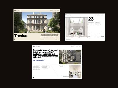 Architecture website exploration designer app freelance paris design meneur thadde clean ux ui