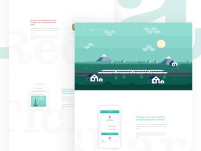 Train app website