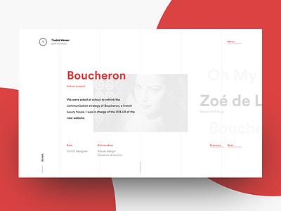 Portfolio projects page website ux user ui thadde portfolio meneur interface interaction design clean