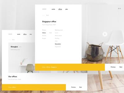 Agency website clean meneur thadde paris agency website office landing desktop design ux ui