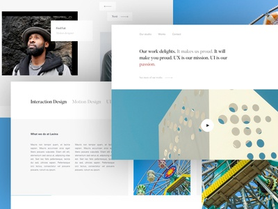 Landing Agency Website freelance paris designer template interaction thadde agency landing desktop ui clean