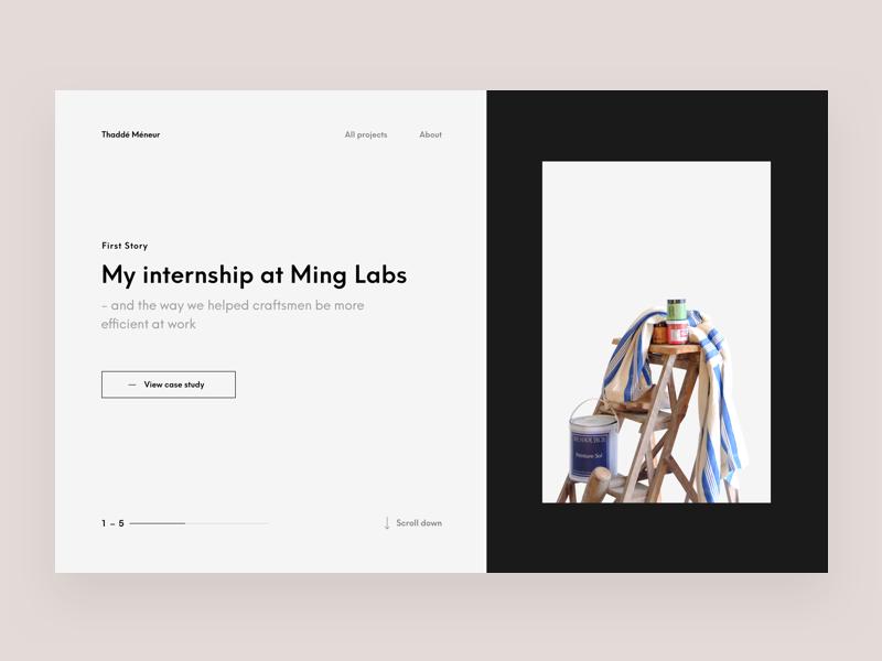 Portfolio 2018 product paris designer meneur thadde clean interaction website portfolio ux ui design