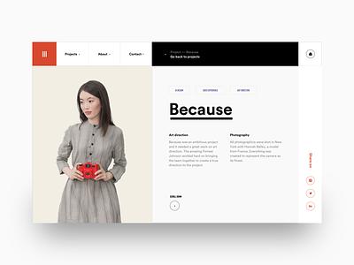 #8 Portfolio page design agency designer paris freelance interactive motion ux ui clean