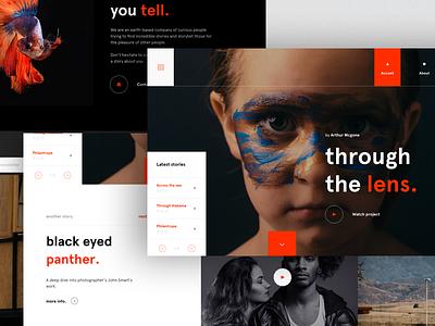 #9 Through the lens design agency designer paris freelance interactive motion ux ui clean