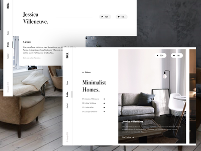 #11 Minimalist Homes design agency designer paris freelance interactive motion ux ui clean