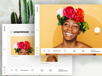 #10 Photography portfolio design agency designer paris freelance interactive motion ux ui clean
