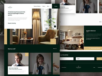 #13 Luxury landing page meneur thadde page landing desktop luxury sanders ux ui clean