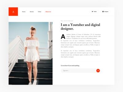 #18 Blog about page article blog meneur thadde freelance paris designer design app ux ui clean