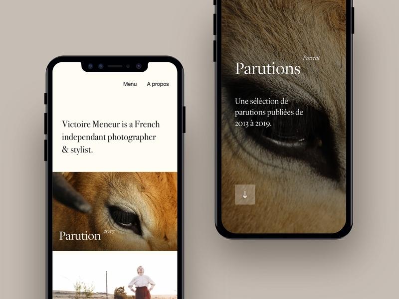 Victoire Portfolio —Responsive interface designer app freelance paris design meneur thadde clean ux ui