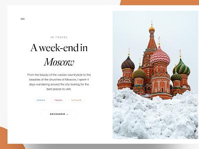 Blog landing page interface designer app freelance paris design meneur thadde clean ux ui