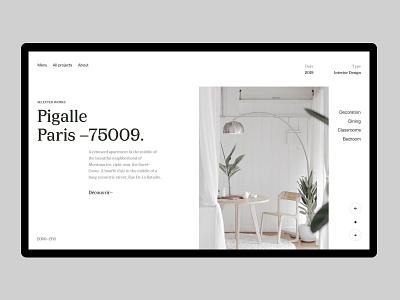 Architecture Homepage portfolio freelance designer serif thadde swiss layout clean architecture home