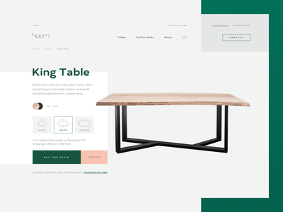 H. product shop gray white ui ux web design store furniture pink green clean
