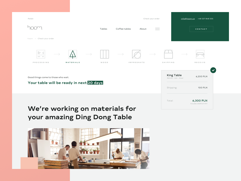 H. buy shop gray white ui ux web design store furniture pink green clean
