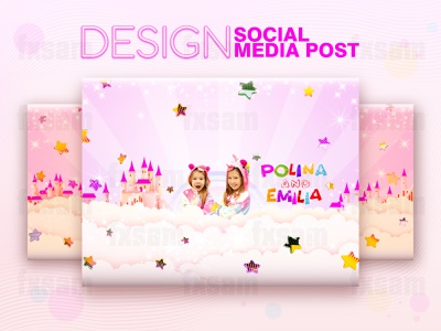 FACEBOOK AND YOUTUBE COVER. SOCIAL MEDIA POST & WEB BANNER abstract gradient webdesign web design web vector typography type lettering illustration graphic design flat drawing design creative color card branding art advertising