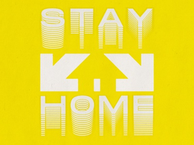 Stay Home 04 20 20 symbol window door down arrow home house negativespace arrows public safety psa corona stay safe stay home yellow minimal