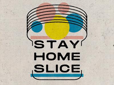Stay Home 04 30 20 texture pink yellow blue circles retro nostalgia wonder bread wonder dots stay safe stay home coronavirus psa bread slice slice bread geometric