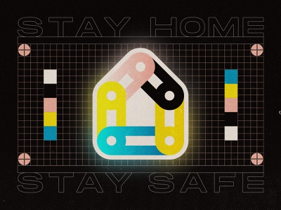 Stay Home 05 04 20 stayhome alone togehter links printers mark coronavirus quarantine social distance house stay safe stay home psa covid19 grid