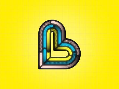 B 36DOT08 pop art pattern 36daysoftype08 36dot typography vectorart b 36daysoftype geometric