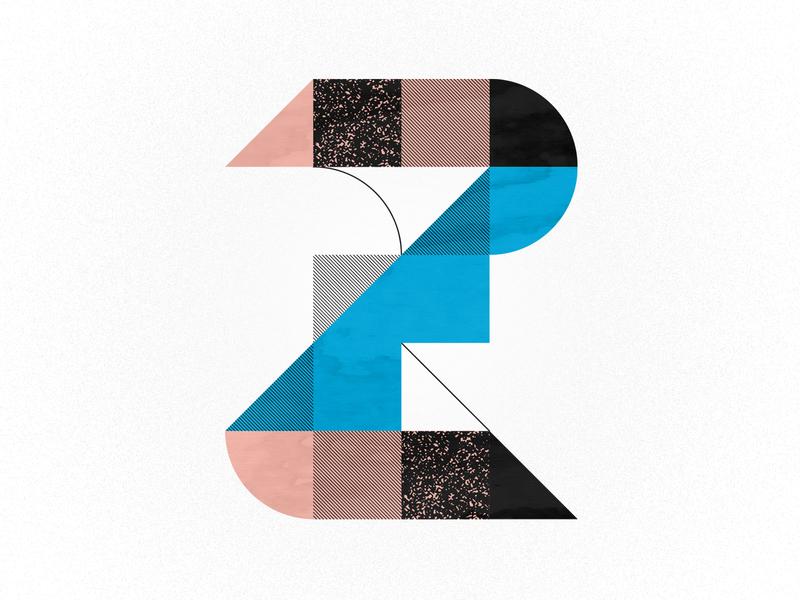 Z is for Zonked 36days-z design vector dots illustration pink blue 36daysoftype minimal benday geometric