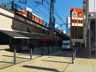 64 process car rust trash design retro garbage street art u-bahn subway exploration color street berlin