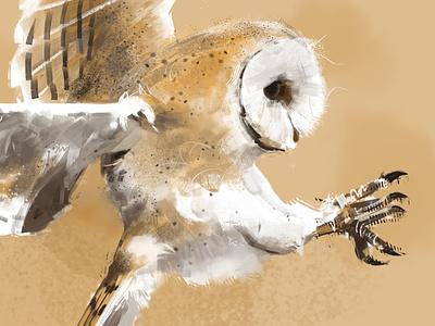 109 owl garbage color photoshop illustration