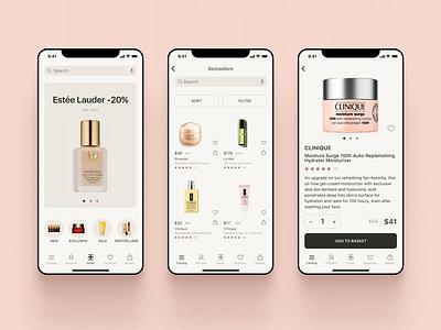 Perfume & Cosmetics Store app design store ios app ux ui