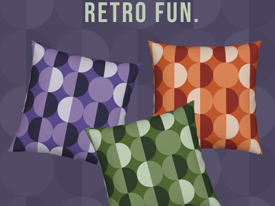 Retro Circles Grid pattern retro retro design pattern design home decoration home decor patterns