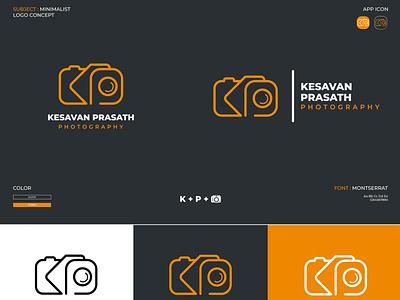 Minimalist logo for a photographer Named Kesavan Prasath camera camera logo photographer logo photography logo photography illustrator minimal icon logo illustration design