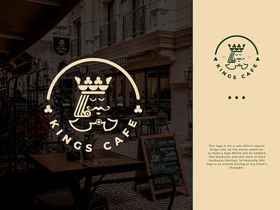 Kings Cafe Logo concept concept bdlogodesign bangladesh logo bangladesh logodesigner creative work logoforsale logofolio cool logo idea creative design creative logo logo ideas logodesigns coffee logo cafe branding cafe logo idea illustration design logo
