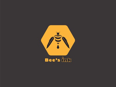 Bee's ink bdlogodesign bangladeshi logo designer bangladesh minimalist logo logo ideas logodesign design bangladeshi illustration logo