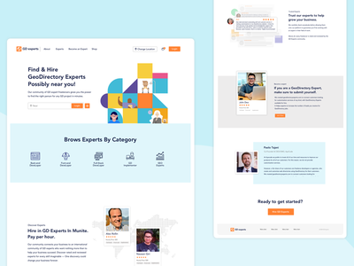 GeoDirectory Experts Home page. branding icon ui photoshop typography ux web app design landing page design