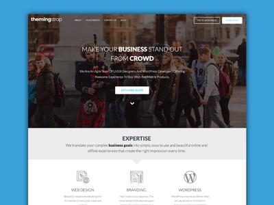 ThemingStrap got New look ui web design web
