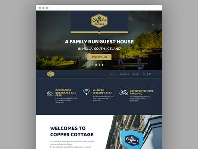 Copper Cottage Website Design branding website