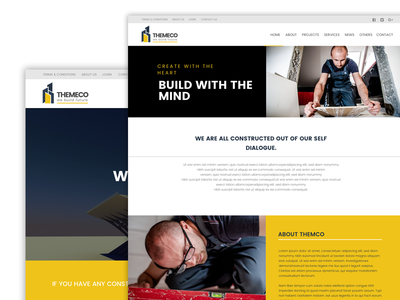 Expanded Demo - Construction Agency agency construction landing page web