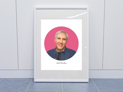 Low poly portrait of Scott Marlow