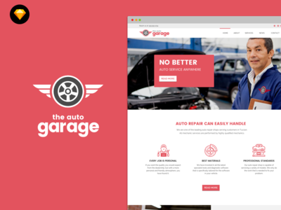 Auto Garage website template download free website template