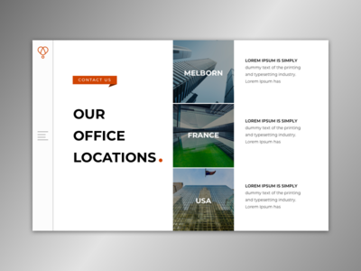 Contact Page for single page website. app design vector photoshop web ux design typography landing page branding