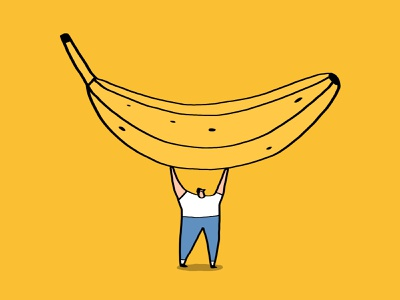 Welcome Banana Shelf card ideas comedy humour funny art funny illustration banana illustration
