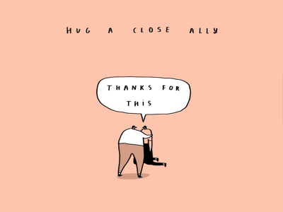 hug ally thank you hugs funny art greetings cards funny illustration funny comedy banana shelf card ideas humour illustration