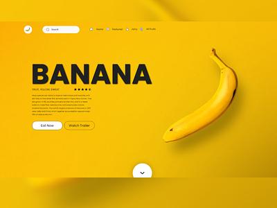 HEADER VIEW BANANA design website graphic design