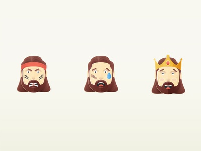 Rea Garvey – Character Illustration happy win victorious sad angry emojis illustrations character